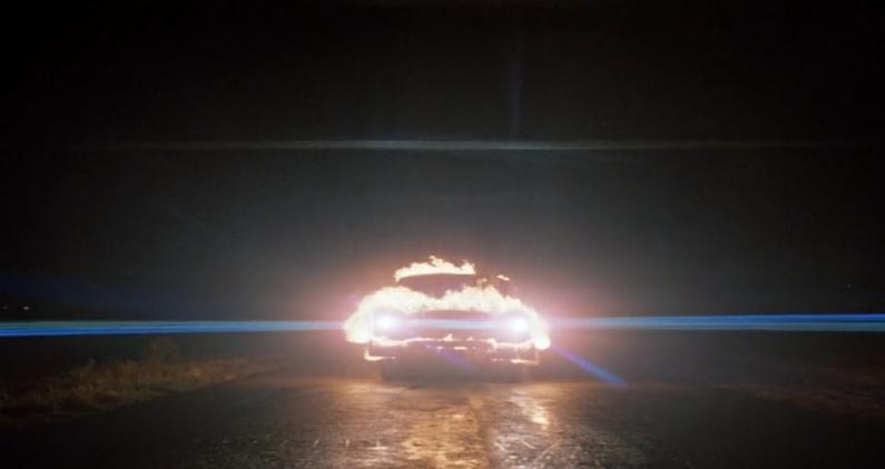 Christine movie car on fire