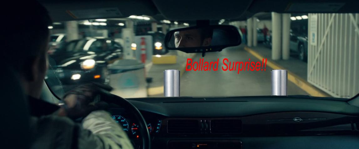 driver parking garage bollards
