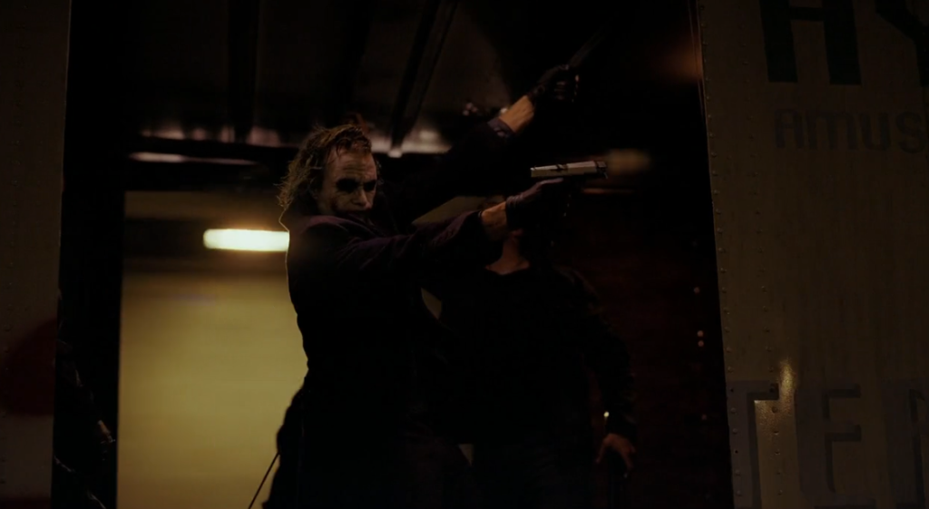 Joker shooting at Harvey Dent
