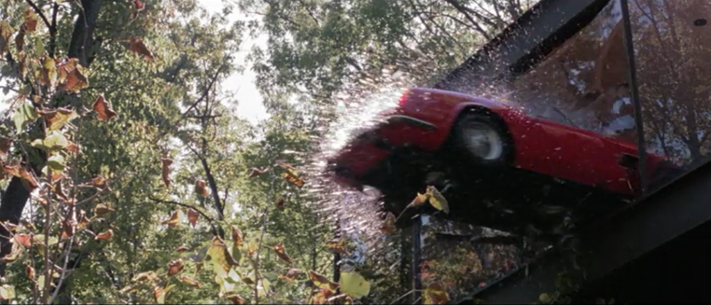 car flying out of window in Ferris Bueller's Day Off