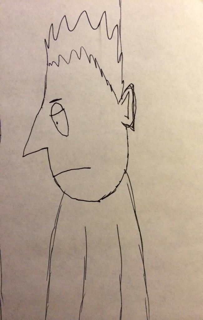 cartoon man sitting in prison