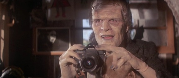 frankenstein monster squad takes picture of boobs