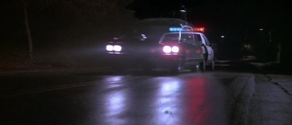 monster squad dracula drives through cop car